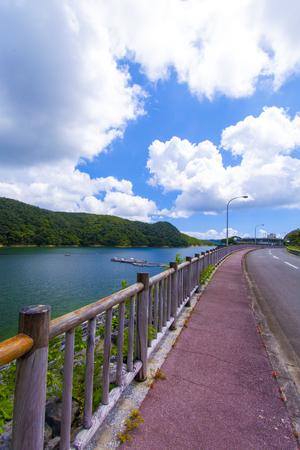 福地ダム・ダム湖と周辺道路(縦):No.2164