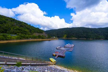 福地ダム・ダム湖(横):No.2167