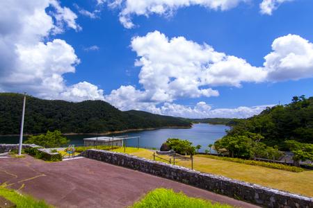 福地ダム・ダム施設とダム湖(横):No.2179