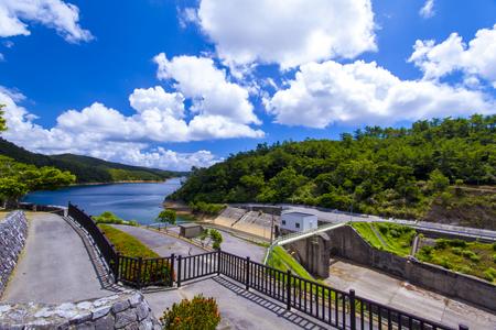 福地ダム・ダム施設とダム湖(横):No.2182