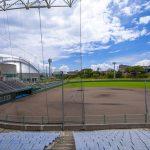 宜野座球場・観覧席とグラウンド(横):No.2217