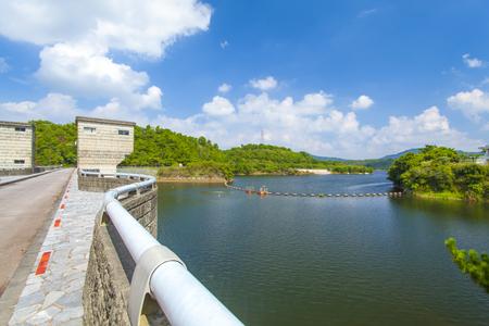 漢那ダム・ダム湖(横):No.2230
