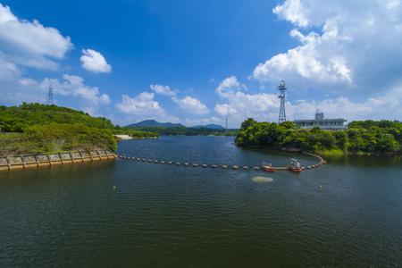 漢那ダム・ダム湖(横):No.2234
