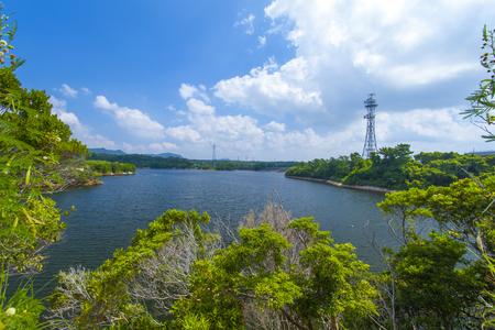 漢那ダム・ダム湖(横):No.2235
