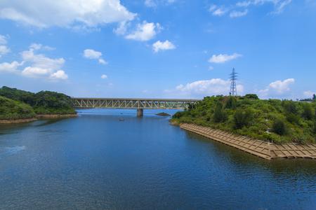 金武ダム・ダム湖(横):No.2250