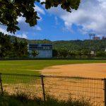 南城市営新開球場・グラウンドとスコアボード(横):No.2291