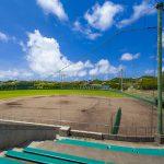 東風平野球場・内野観覧席から見たグラウンド(横):No.2311