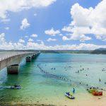 古宇利大橋と古宇利ビーチ(横):No.2330