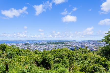浦添グスク・ようどれ・展望台からの景色(横):No.2454
