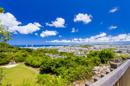 浦添グスク・ようどれ・展望台からの景色(横):No.2456