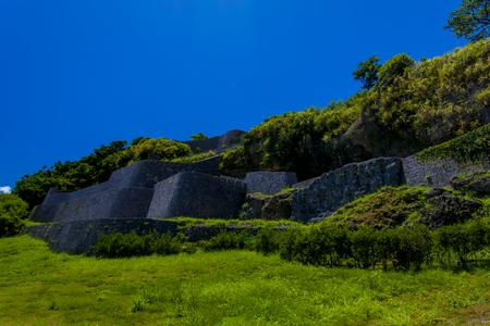 浦添グスク・ようどれ「城壁」(横):No.2476