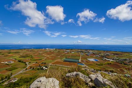 城山(伊江島タッチュー)山頂からの景色(横):No.2386