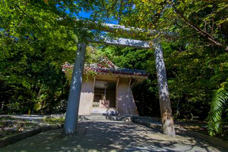名護神社・拝殿(横):No.2541