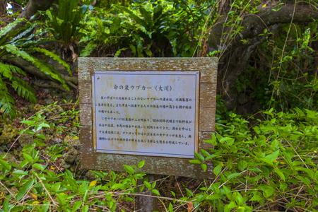 命の泉ウプカー(大川)・案内板(横):No.2889
