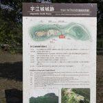 宇江城城跡・案内板(縦):No.3548