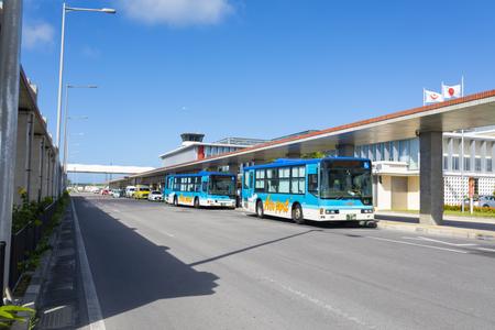 南ぬ島石垣空港・バス乗り場(横):No.3656